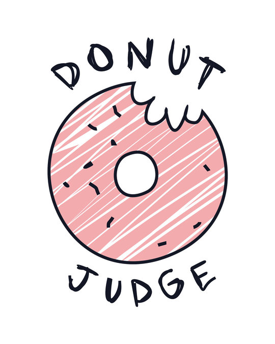 Shop Donut Judge Boyfriend T-Shirt