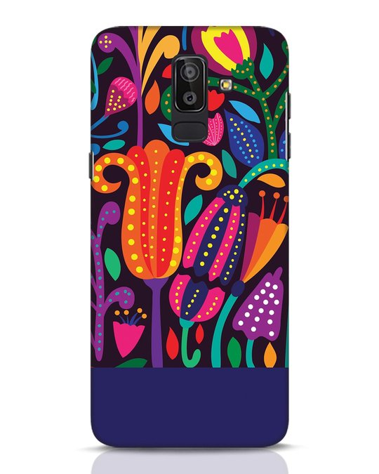 Shop Doodle Flowers Samsung Galaxy J8 Mobile Cover-Front