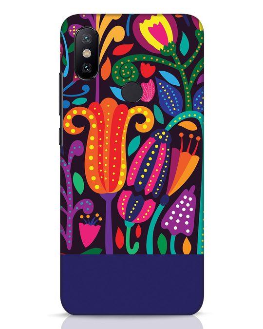 Shop Doodle Flowers Xiaomi Mi A2 Mobile Cover-Front