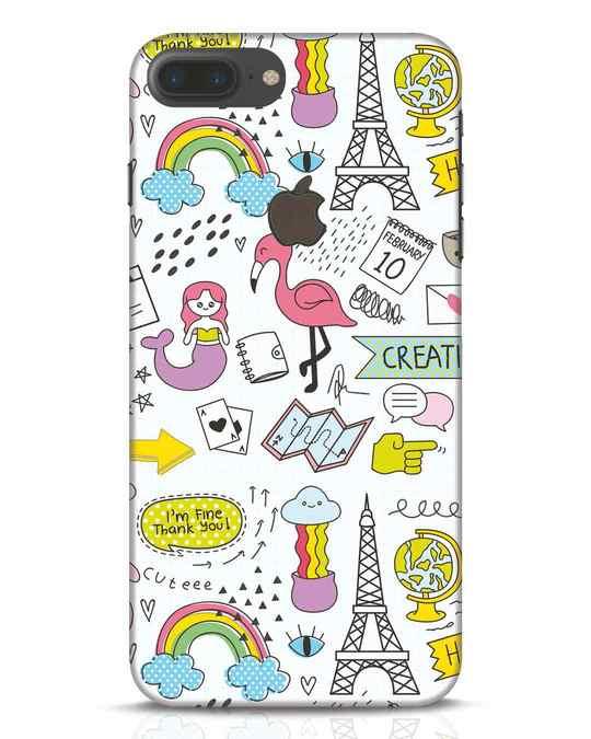 Shop Doodle iPhone 7 Plus Logo Cut Mobile Cover-Front
