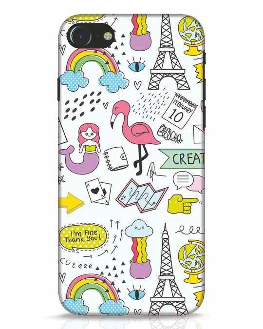 Shop Doodle iPhone 8 Mobile Cover-Front