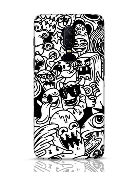 Shop Doodle Monsters OnePlus 6 Mobile Cover-Front