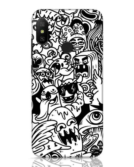 Shop Doodle Monsters Xiaomi Redmi 6 Pro Mobile Cover-Front