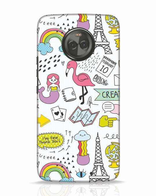 Shop Doodle Moto X4 Mobile Cover-Front