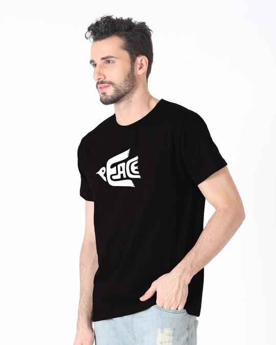 Shop Dove Peace Half Sleeve T-Shirt-Full