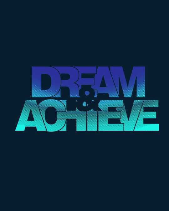 Shop Dream & achieve gradient Boyfriend T-Shirt