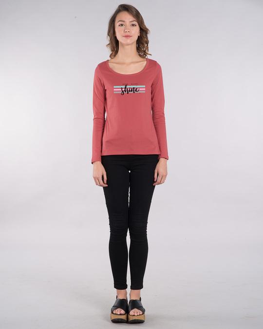 Shop Dream Believe Shine Scoop Neck Full Sleeve T-Shirt-Design