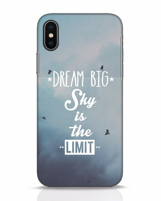 Shop Dream Big iPhone X Mobile Cover-Front
