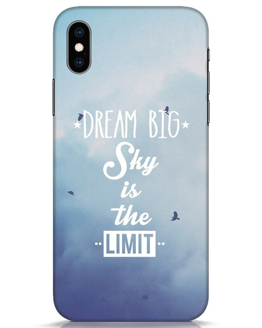 Shop Dream Big iPhone XS Mobile Cover-Front