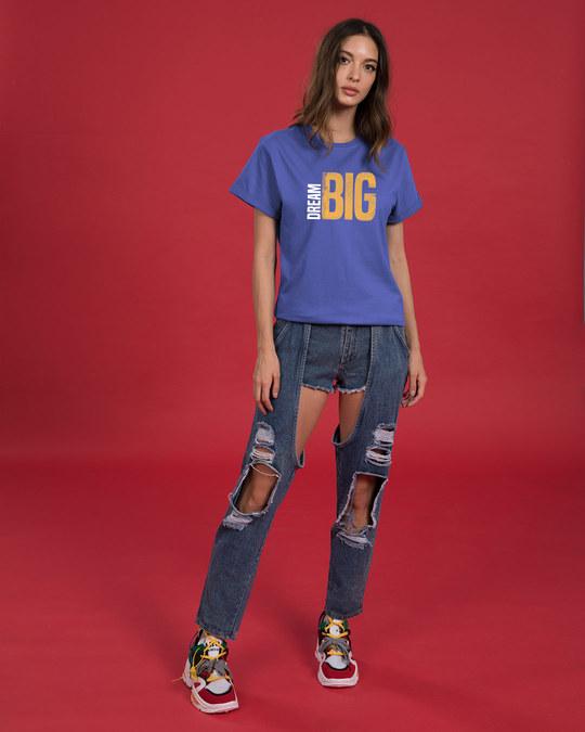 Shop Dream Big Sideways Boyfriend T-Shirt-Full