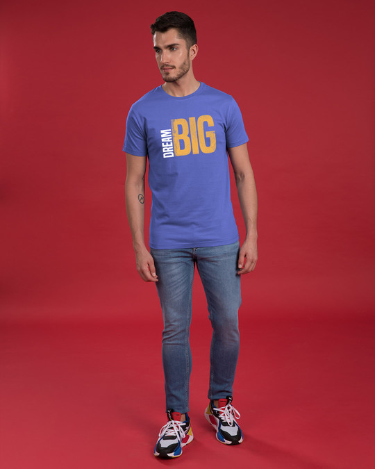 Shop Dream Big Sideways Half Sleeve T-Shirt-Full