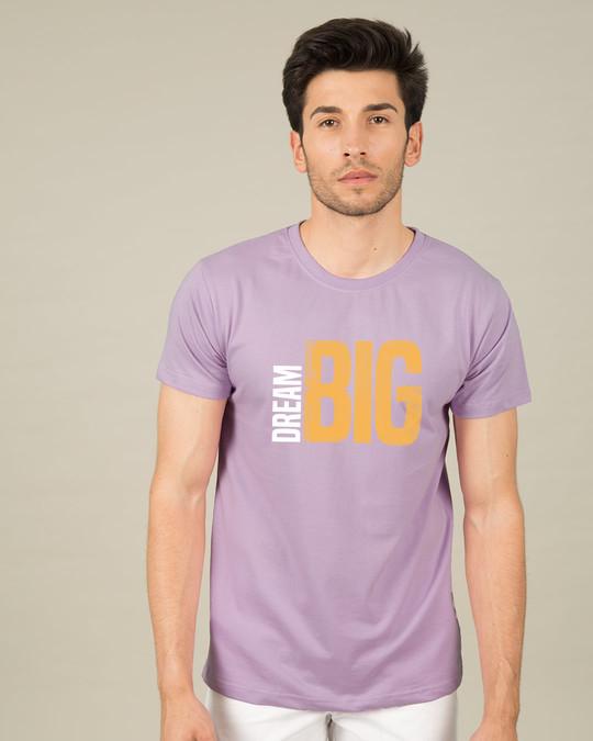 Shop Dream Big Sideways Half Sleeve T-Shirt-Back