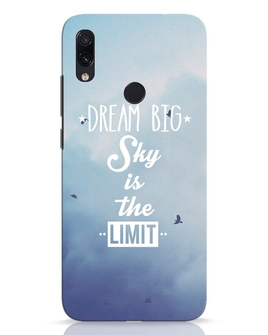 Shop Dream Big Xiaomi Redmi Note 7 Pro Mobile Cover-Front