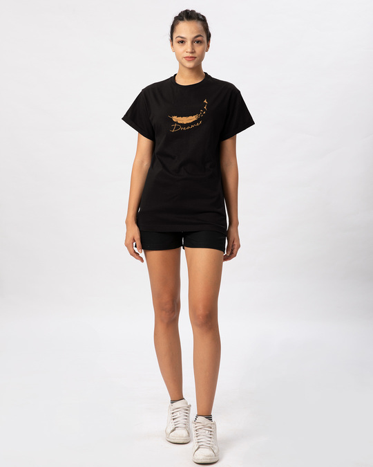 Shop Dream Feather Boyfriend T-Shirt-Full