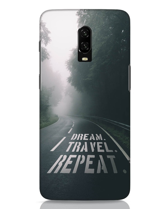 Shop Dream Travel Repeat OnePlus 6T Mobile Cover-Front