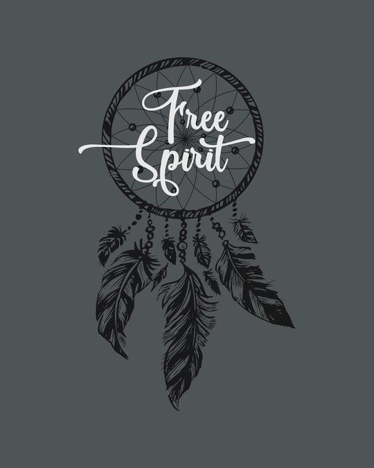 Shop Dreamcatcher Free Spirit  Boyfriend T-Shirt Nimbus Grey-Full