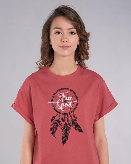 Shop Dreamcatcher Free Spirit Boyfriend T-Shirt-Front