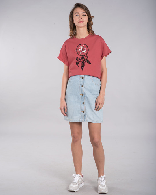 Shop Dreamcatcher Free Spirit Boyfriend T-Shirt-Full