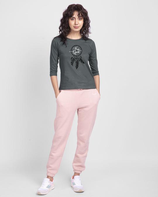 Shop Dreamcatcher Free Spirit Round Neck 3/4th Sleeve T-Shirt-Design