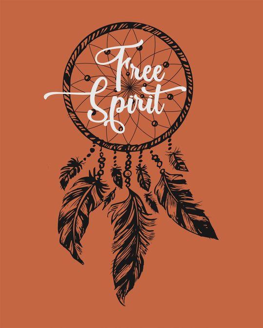 Shop Dreamcatcher Free Spirit Round Neck 3/4th Sleeve T-Shirt