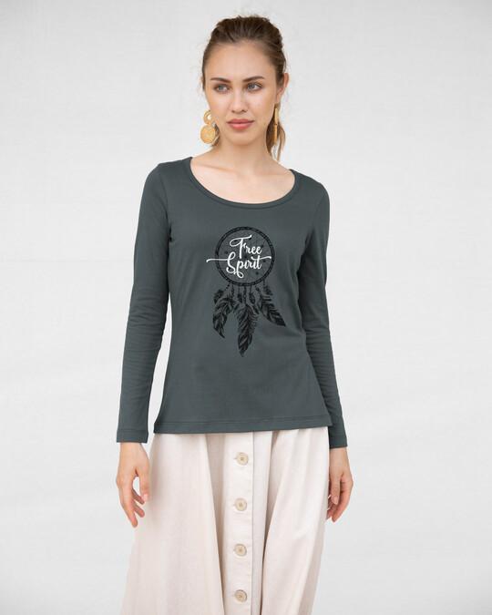 Shop Dreamcatcher Free Spirit Scoop Neck Full Sleeve T-Shirt-Design