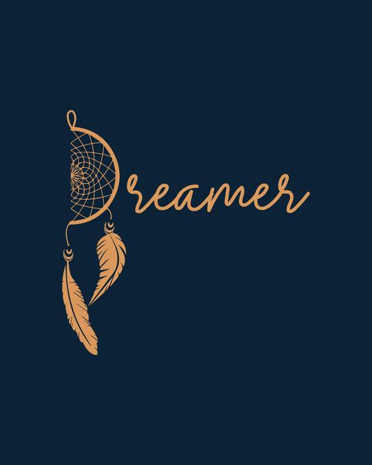 Shop Dreamer Feathers Boyfriend T-Shirts Navy Blue