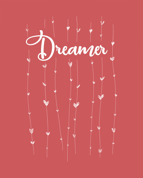 Shop Dreamer Hearts Boyfriend T-Shirt
