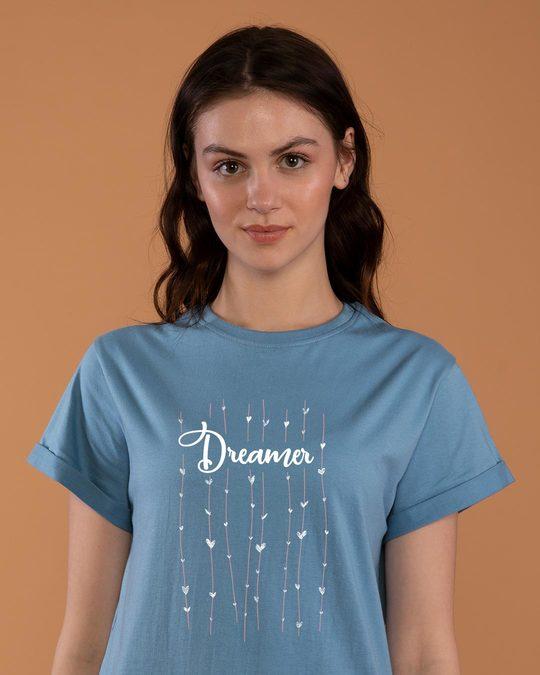 Shop Dreamer Hearts Boyfriend T-Shirt-Front