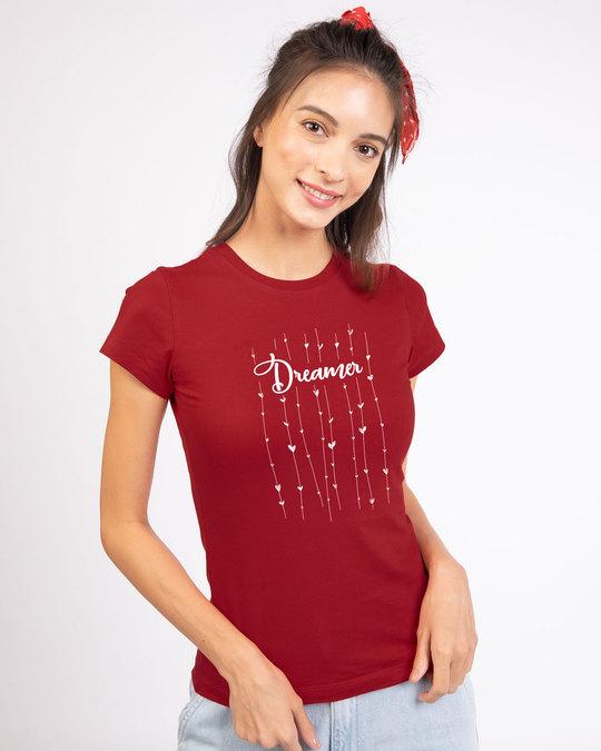 Shop Dreamer Hearts Half Sleeve T-Shirt-Back
