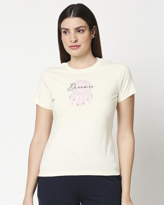 Shop Dreamer Leaves Women's Lounge T-Shirt-Back