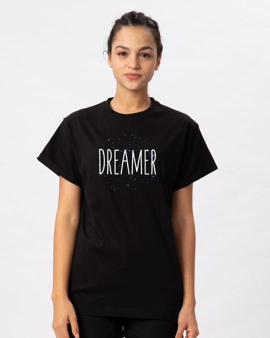 Shop Dreamer Typo Boyfriend T-Shirt-Front