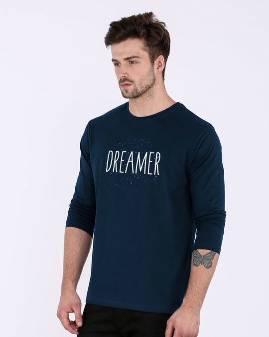 Shop Dreamer Typo Full Sleeve T-Shirt-Back