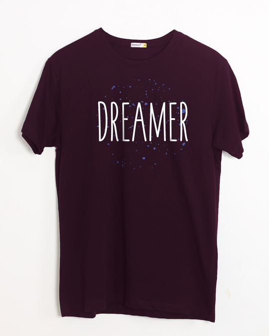 Shop Dreamer Typo Half Sleeve T-Shirt-Front