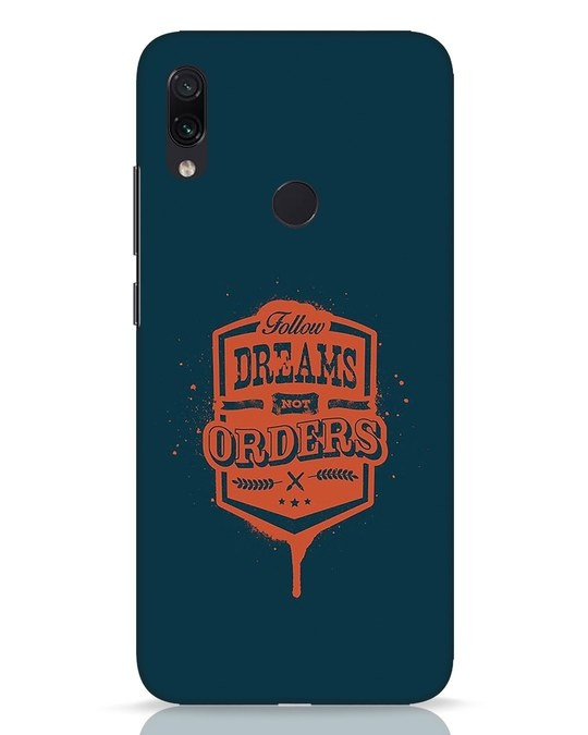 Shop Dreamsnotorders Xiaomi Redmi Note 7 Pro Mobile Cover-Front