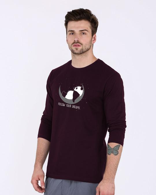 Shop Dreamy Panda Full Sleeve T-Shirt-Back