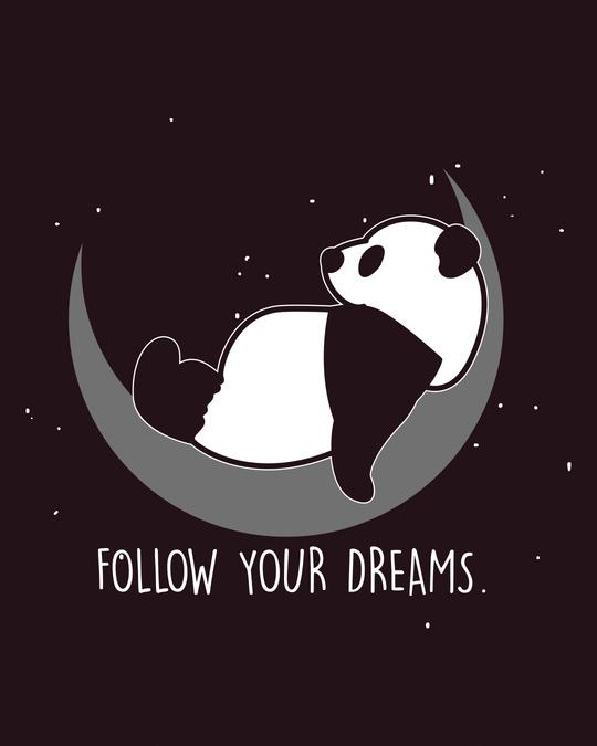 Shop Dreamy Panda Round Neck 3/4th Sleeve T-Shirt