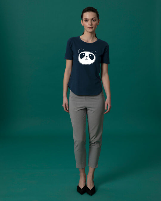Shop Dress Up Panda Basic Round Hem T-Shirt-Full