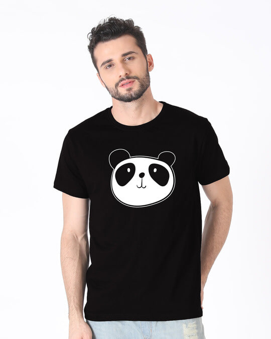 Shop Dress Up Panda Half Sleeve T-Shirt-Back