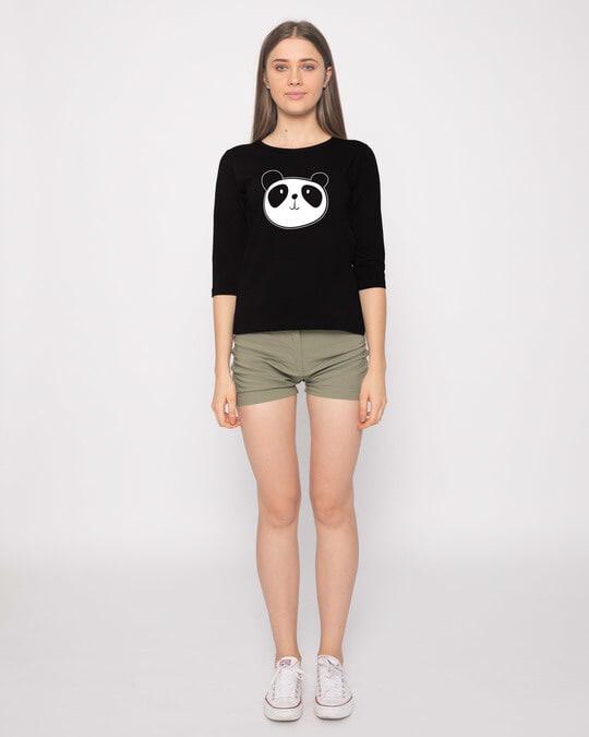 Shop Dress Up Panda Round Neck 3/4th Sleeve T-Shirt-Full