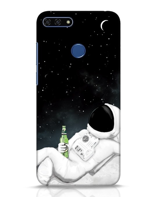 Shop Drinking Astronaut Huawei Honor 7A Mobile Cover-Front