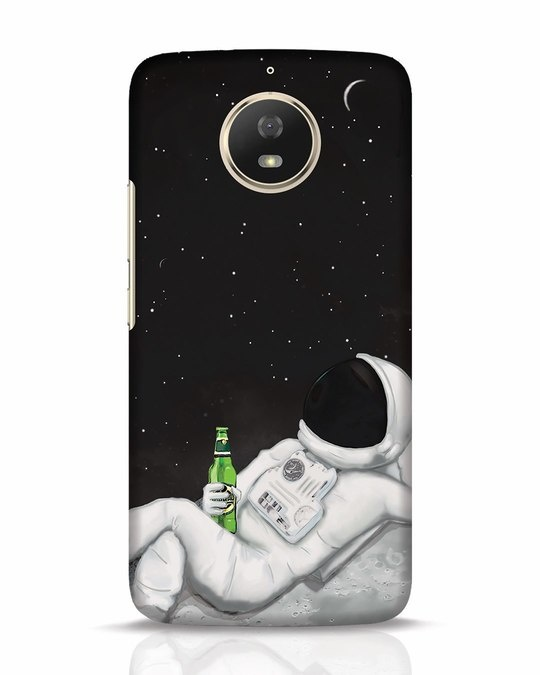 Shop Drinking Astronaut Moto G5s Mobile Cover-Front
