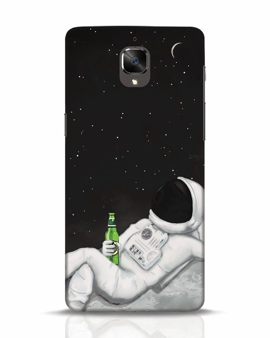 Shop Drinking Astronaut OnePlus 3 Mobile Cover-Front
