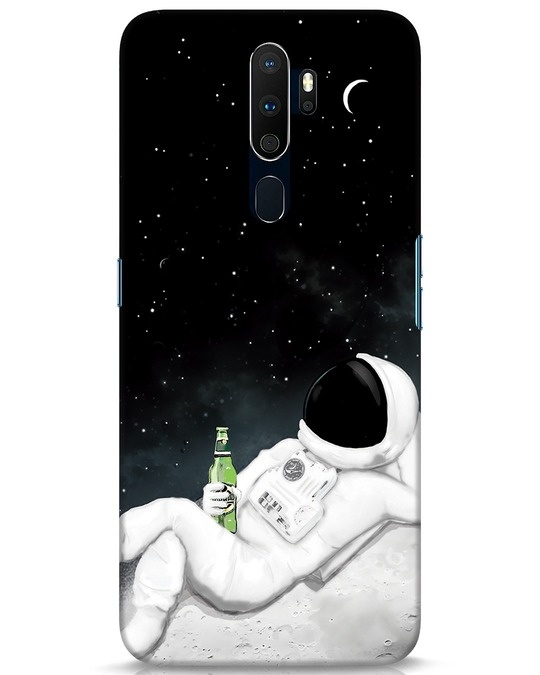 Shop Drinking Astronaut Oppo A9 2020 Mobile Cover-Front