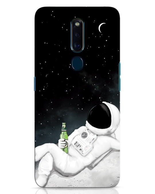 Shop Drinking Astronaut Oppo F11 Pro Mobile Cover-Front