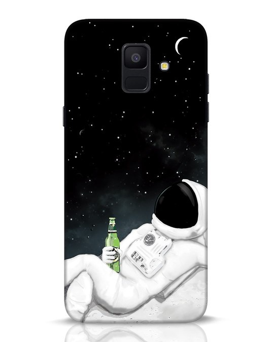 Shop Drinking Astronaut Samsung Galaxy A6 2018 Mobile Cover-Front