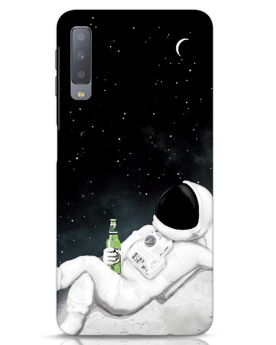 Shop Drinking Astronaut Samsung Galaxy A7 Mobile Cover-Front