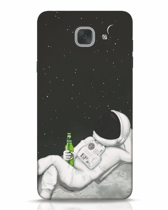 Shop Drinking Astronaut Samsung Galaxy J7 Max Mobile Cover-Front