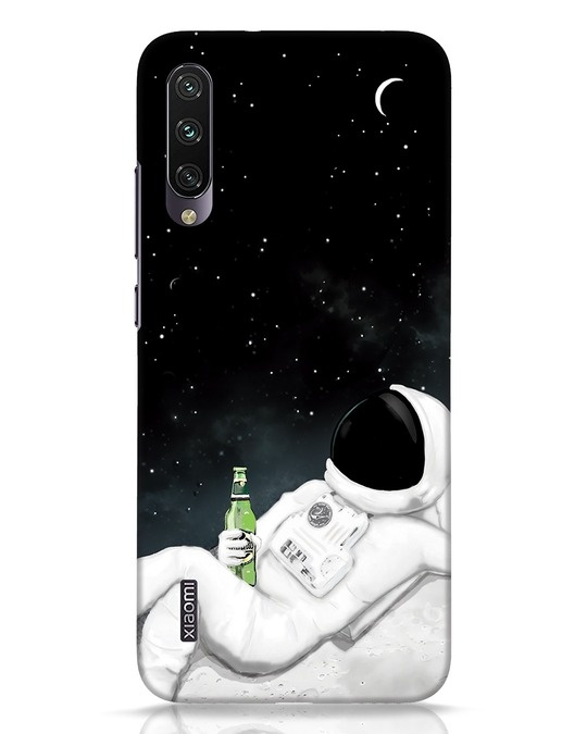 Shop Drinking Astronaut Xiaomi Mi A3 Mobile Cover-Front