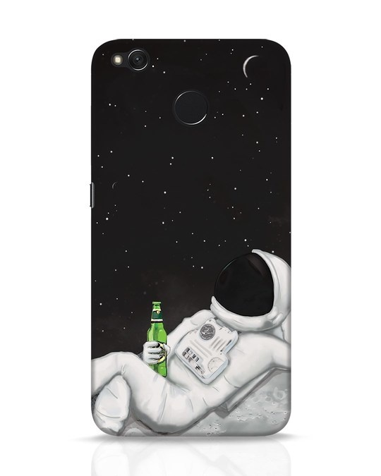 Shop Drinking Astronaut Xiaomi Redmi 4 Mobile Cover-Front