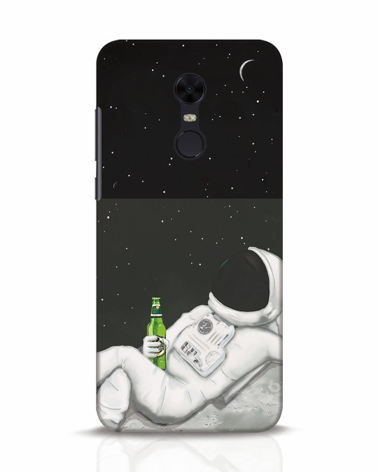 Shop Drinking Astronaut Xiaomi Redmi Note 5 Mobile Cover-Front